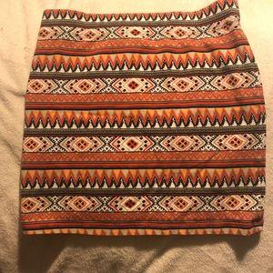 Forever21 Boho Chic Mini Skirt